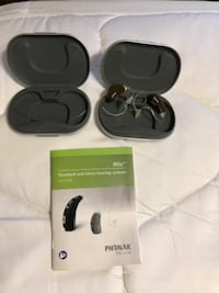 Black and gray wireless headphones with box Commerce City