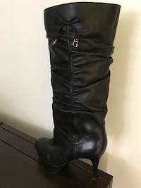 pair of black leather knee-high boots Snohomish, 98290