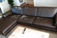 Dark brown chase leather sectional sofa Seattle, 98119