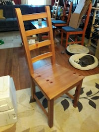 Ladder back dining table chairs,  up to 6 available