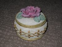 Victorian Rose Designed by Betty Singer Jewelery Trinket Box Jewellery Calgary