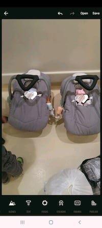 2 identical fleece carseat covers and body. cushions