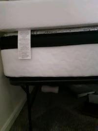 Queen Visolastiic  bed washadreble matress cover, and metal bed frame