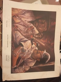 Autographed batting champs poster. Wade Boggs & Tony Gwinn 266/500