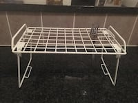 White cutlery drying rack