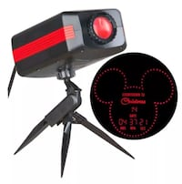 Disney Mickey Mouse Countdown To Christmas Red LED Outdoor Stake Light Projector - Brand New  Las Vegas, 89117