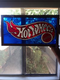 Hot Wheels stained glass