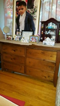 brown wooden dresser with mirror Toronto, M3H