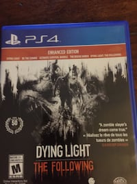 PS4 Dying Light The Following game case Barrie, L4M 2W4