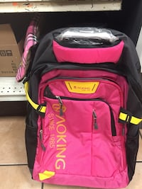red and black Outdoor backpack Bakersfield, 93306