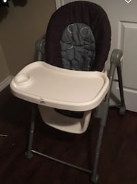 baby's white and black high chair Port Coquitlam