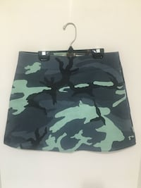 Army Black Blue 90's Skirt