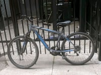 black and blue hardtail mountain bike Toronto, M5A 1S2