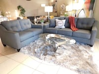 gray fabric sectional sofa with throw pillows Bothell, 98012