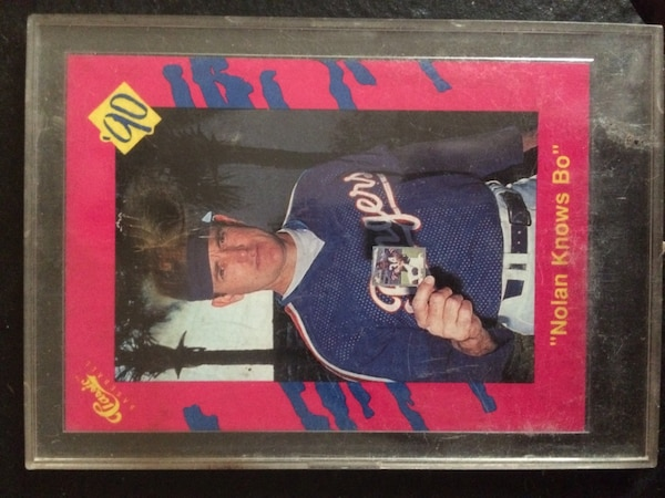 Used Nolan Knows Bo Baseball Card For Sale In Bloomfield Letgo