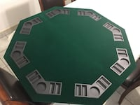 Green-and-grey poker table top Montréal, H8N 1K3