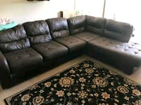 tufted gray leather sectional sofa Alexandria, 22305