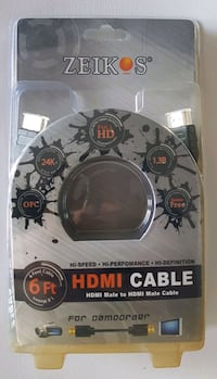 Zeikos HDMI Male to HDMI Male Cable (6 Feet)