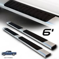 "01-18 Silverado Sierra Crew Cab 6"" Nerf Bars Side Step OE Style Running Boards La Puente"