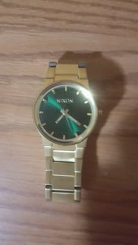 Gold Plated Nixon Watch 3724 km