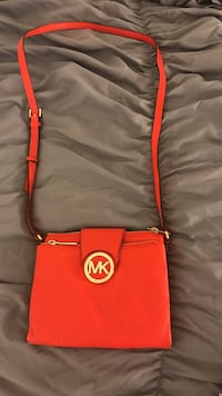 red and brown Michael Kors leather crossbody bag Homestead, 33033