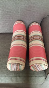 red and white stripes bolster pillows Los Angeles, 90046