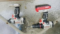 white and black Porter Cable cordless hand drill Quakertown, 18951