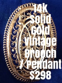 Gorgeous vintage 14k solid gold  brooch /pendant   Weight: 8.36g  offered for only $299