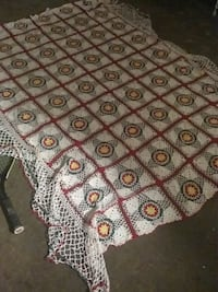 Hand crochet table cloth