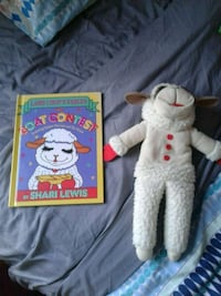 Lamb Chop puppet and book together Toronto, M2N 6M7