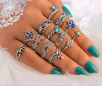 13 piece ring set $15.00 sizes vary Airdrie, T4B 3C5