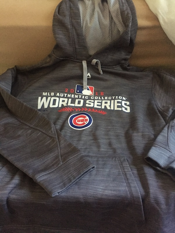 check out ea39f 40824 Gray Chicago cubs pull-over hoodie