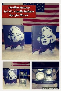 Marilyn Monroe candle holders  Clarkesville, 30523