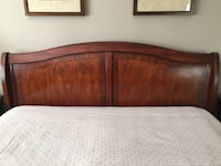 Elegant King Size bed with 2 night stands and matching seat