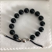 black and silver beaded bracelet Toronto, M6H 0E4