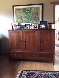Entertainment center of beautiful cherry wood Rockville, 20850