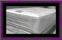 """Full 16"""" double pillow top mattress with boxspring Severn"""