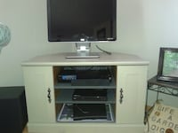 Wood large TV Stand cabinet with storage