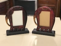 """Wood Elephant Picture Frames  (Frame Is 7-3/4"""" Tall & 6-1/4"""" Wide) Holds 3"""" x 5"""" Photo - Pickup in Houma"""