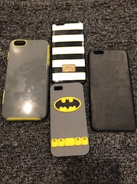 four assorted-color of iPhone cases
