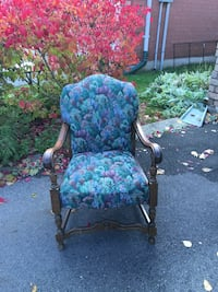 One blue-and-pink floral padded armchair Hamilton, L8R 3M2