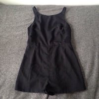 Black romper with side lace detailing Toronto, M1T