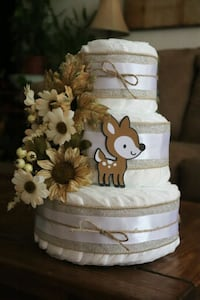 Woodland animals diaper cake  Centreville, 20121