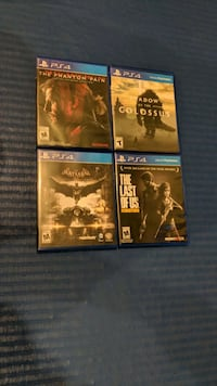 4 PS4 Games in great condition Herndon, 20171