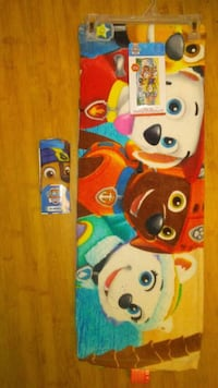 paw patrol beach towel & face cloth
