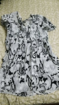 white and black floral sleeveless dress Silver Spring, 20904