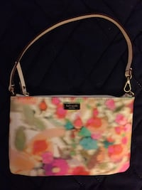 black and pink floral leather tote bag Centreville, 20120