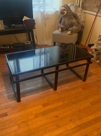 Coffee table with two end tables.