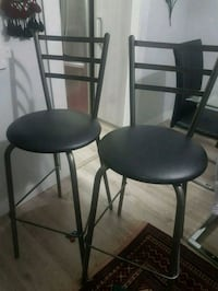 Black leather bar stools Toronto, M3A 2Z6