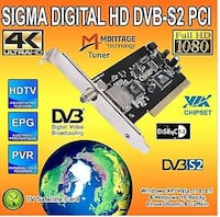 Sigma Digital HD DVB-S/S2 PCI / TV KARTI / 4K DESTEĞİ